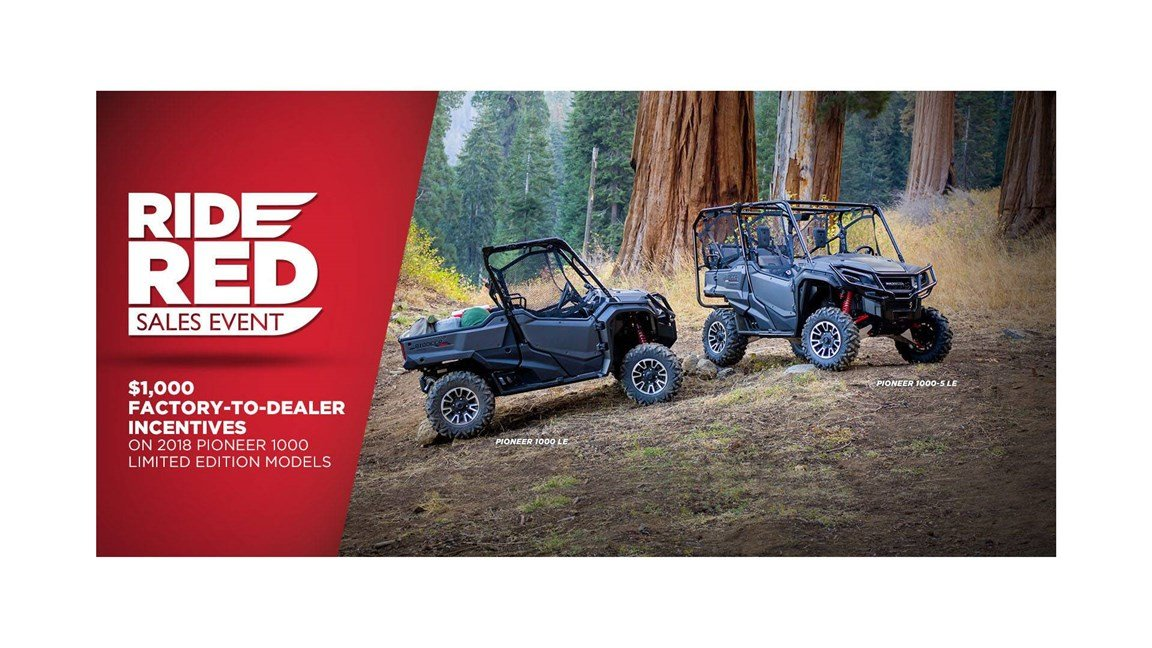 Honda - Ride Red Sales Event - All ATVs and SxS