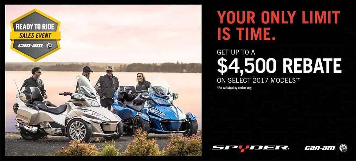 Can-Am Spyder - Ready To Ride Sales Event MY17